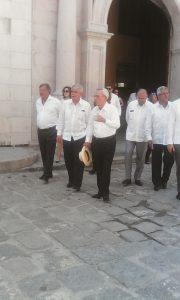 Dr. Eusebio Leal Spengler en compañía de D. Alfonso Dastis Quecedo, Ministro de Asuntos Exteriores y Cooperación de España